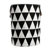 ferm LIVING - Triangle - Panier à linge - noir/blanc/Ø40cm