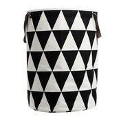 ferm LIVING - Triangle Wäschekorb - schwarz/weiß/Ø40cm