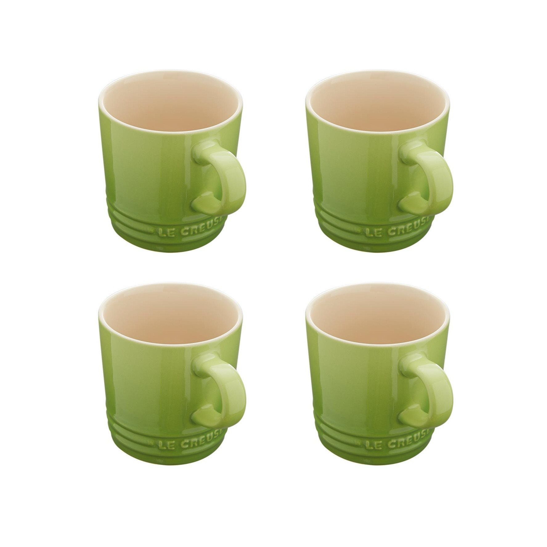 Le Creuset Mug Set Of 4 0 2l Palm Green Suitable