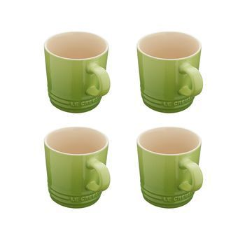 Le Creuset - Le Creuset Becher Set 4tlg. 0.2l - palmengrün/backofengeeignet/Auch für Mikrowelle & Gefrierschrank geeignet