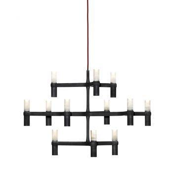 Nemo - Crown Minor Kronleuchter - schwarz/lackiert/12 Lampen/Ø77cm