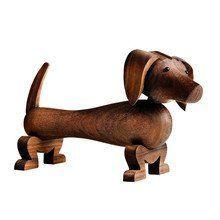 Kay Bojesen Denmark - Kay Bojesen Wooden Figurine Dog