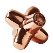 Tom Dixon - Cast Mini Jack Doorstop - copper/glossy/12x12cm/aluminium