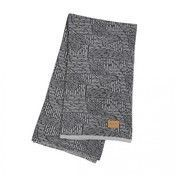 ferm LIVING - Maze Decke - grau/Jacquard-Strick mit Leder Logo-Labe/waschbar bei 30°C/BxH 120x150cm