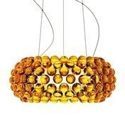 Foscarini - Caboche Media Sospensione Pendelleuchte - goldgelb/Methacrylat/H 20cm/ Ø50cm