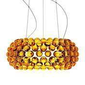 Foscarini - Caboche Media Sospensione - Suspension - jaune d'or/méthacrylate/Ø50cm