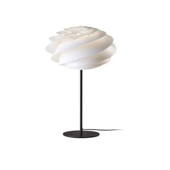 Le Klint - Le Klint Swirl Tischleuchte H:50cm - weiß/Gestell schwarz/H 50cm/ Ø 32cm