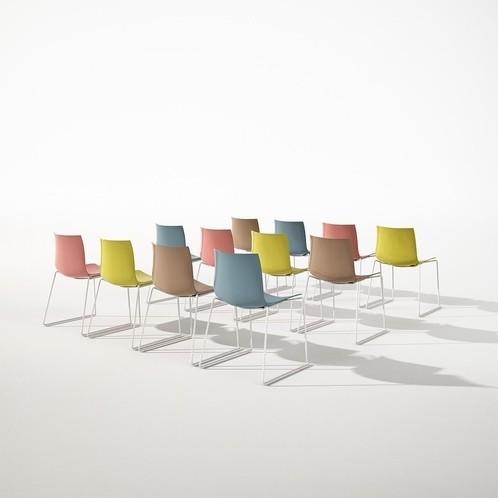 Arper - Catifa 46 0251 Stuhl zweifarbig Gestell weiß