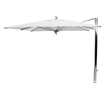 Tuuci - Tuuci Ocean Master Max Cantilever Sonnenschirm - natural/Gestell aluminium/Sunbrella Marine 4604/Klasse C/automatischer Teleskopmast/Kurbelsystem/300x300cm/quadratisch/8 Streben