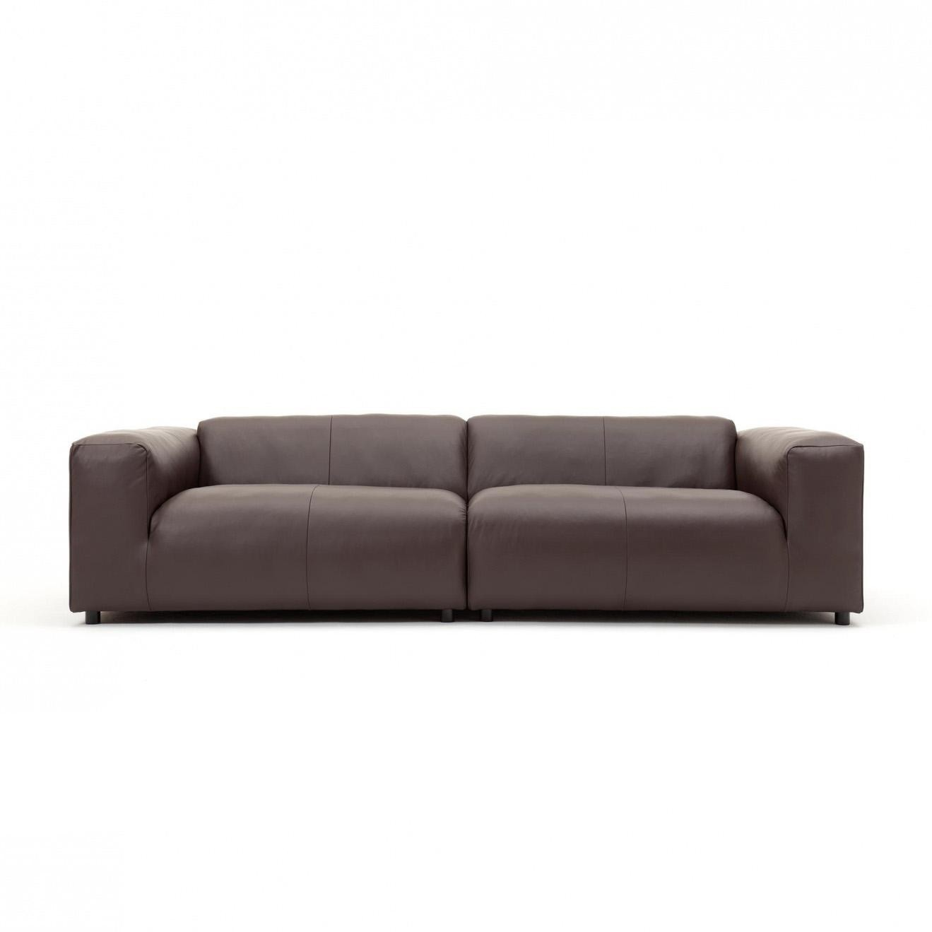 Freistil Rolf Benz 187 3 Seater Leather Sofa 300x67x110cm