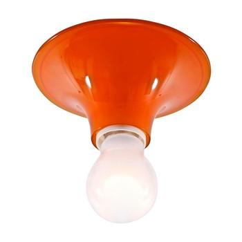 Artemide - Artemide Teti Deckenleuchte - orange/Polykarbonat/Ø14cm