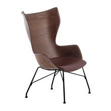 Kartell - K/Wood Sessel Leder