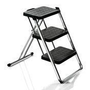 Magis - Nuovastep Stepladder - black/plastic/steel/frame chrome/H: 60cm