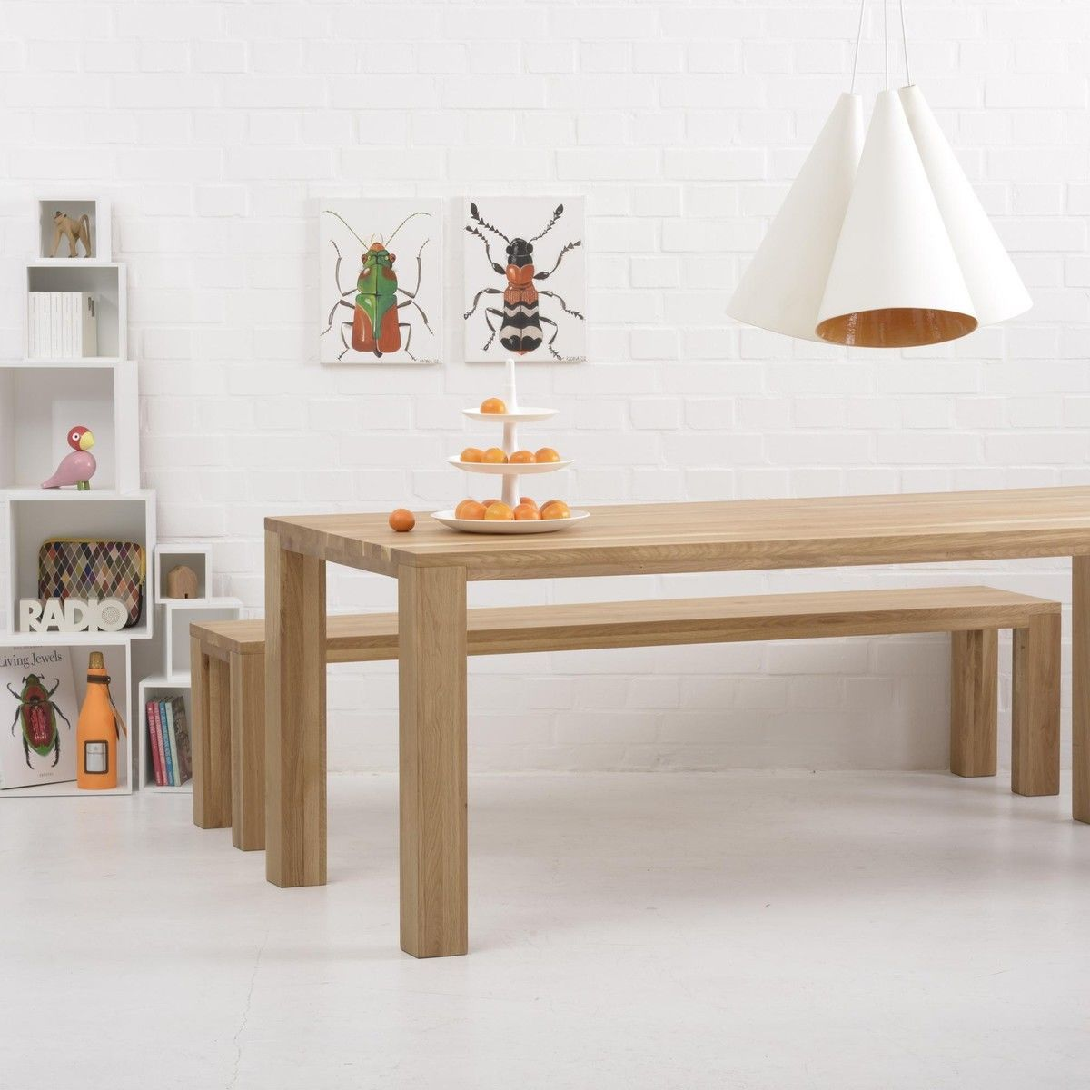 loft table de salle manger en bois massif adwood. Black Bedroom Furniture Sets. Home Design Ideas