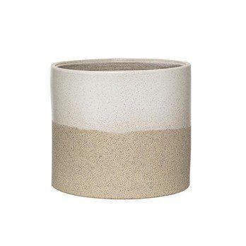 Bloomingville - Barbara Pflanzenbehälter - weiß/Ø19xH17 cm