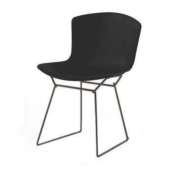 Knoll International - Bertoia Plastic Stuhl Gestell schwarz - schwarz/Polypropylen/Gestell schwarz