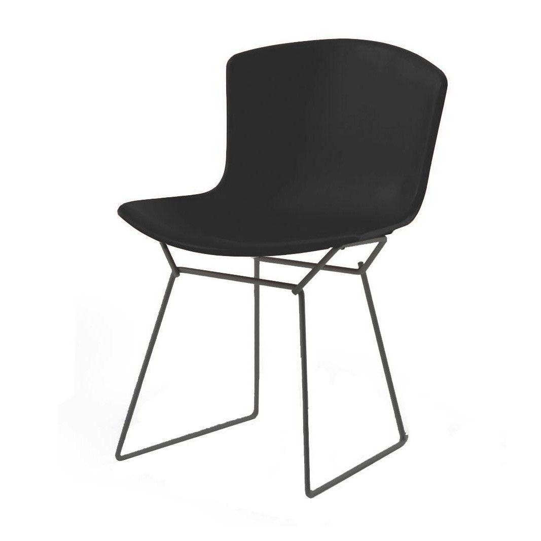 Good Knoll International   Bertoia Plastic Side Chair Frame Black    Black/polypropylene/frame Black