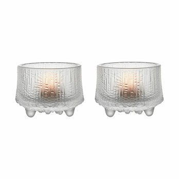 iittala - Ultima Thule Tealight Holder set - frosted/Ø 6.5cm/set of 2