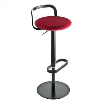 la palma - Mak Barhocker 55-80 - Stoff rot Hallingdal 674/Gestell schwarz lackiert