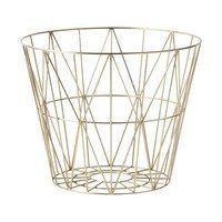 ferm LIVING - Wire Brass Basket