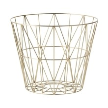 ferm LIVING - Wire Brass Basket
