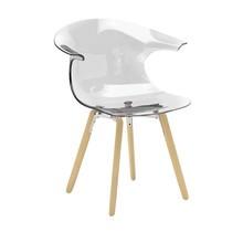 Infiniti - Loop Armchair with wood base