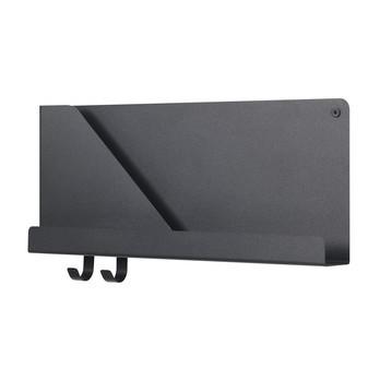 Muuto - Folded Regal S - schwarz/Acrylpulver beschichtet/LxBxH 51x6.9x22cm/2 Haken inklusive