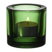 iittala - Kivi Teelichthalter 60mm - grün/transparent
