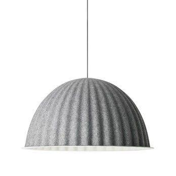 Muuto - Under The Bell Pendelleuchte - dunkelgrau/Gummikabel/H 46cm/Ø 82cm