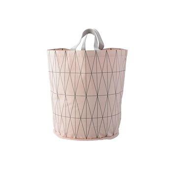 Bloomingville - Bloomingville Wäschekorb - rosa/H 50cm/Ø 40cm