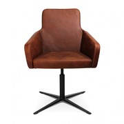 Wagner - Fauteuil lounge W-Cube 1 cuir