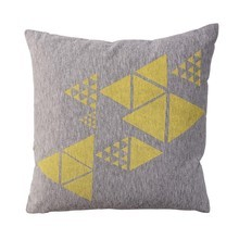 Bloomingville - Geometrics Cushion yellow/green