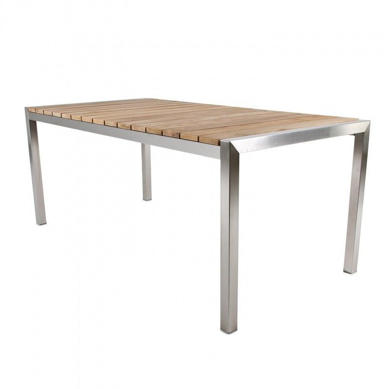 Luxury table de jardin plateau en teck jan kurtz for Table exterieur 50x50