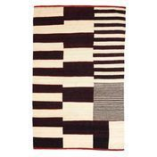 Nanimarquina - Medina - Alfombra de lana - negro/blanco/lana afgana/200x300cm
