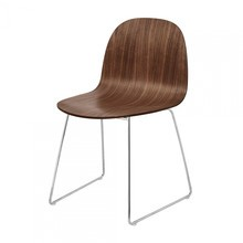 Gubi - Gubi 2D Dining Chair Stuhl mit Kufengestell