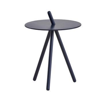 Woud - Come Here Beistelltisch - dunkelblau/lackierte Eiche/Ø 41cm / H 45cm