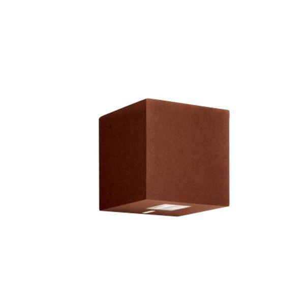 Artemide   Effetto 14S 90° Outdoor Wall Lamp   Dark Brown Rust/14x14x14cm/