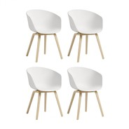 HAY - Set de 4 chaises avec accoudoirs About a Chair AAC 22