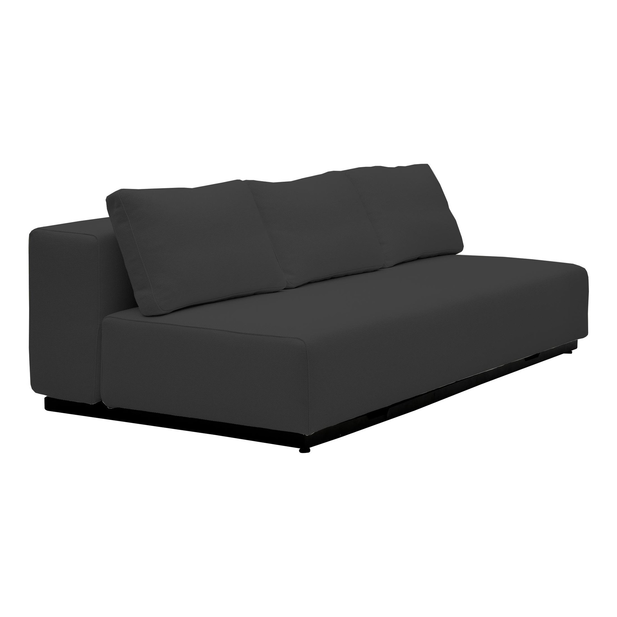Softline Nevada 3 P Sofa Bed Anthracite Fabric
