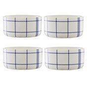 Normann - Mormor Blue 4 Bowls - white/4 pieces