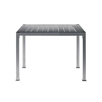 Driade - Thali Aluminium Gartentisch - silber/eloxiert/Größe 1/90x90cm