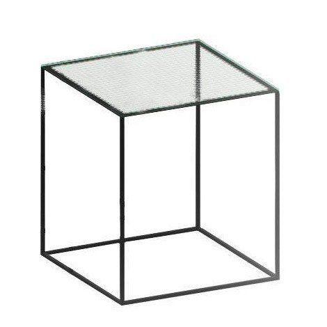 Genial Zeus   Slim Irony Side Table Glass 41x41cm   Wired ...