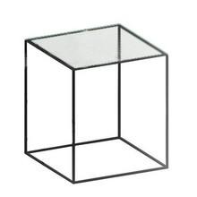 Zeus - Slim Irony Beistelltisch Glas 41x41cm