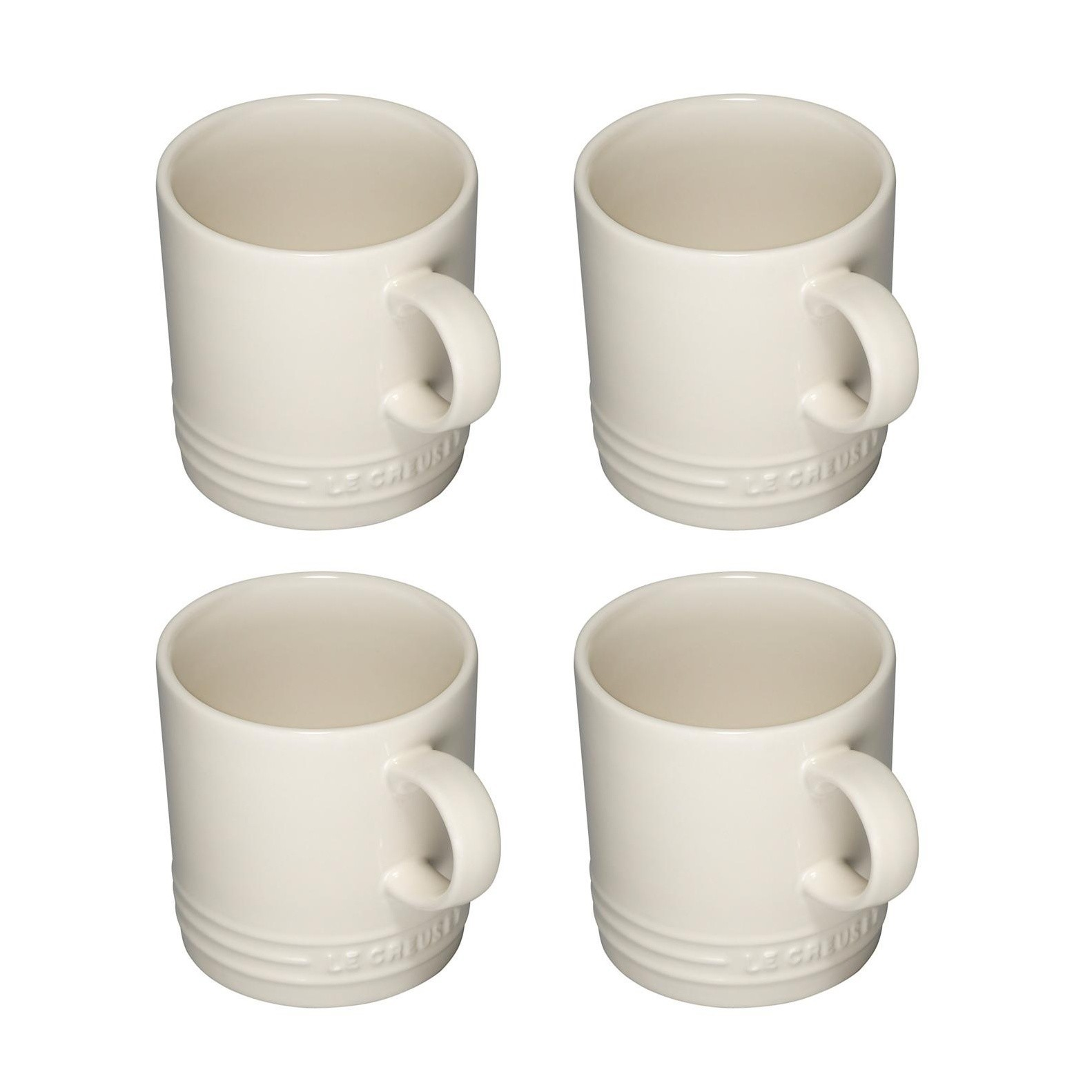 Le Creuset Mug Set Of 4 0 35l Creme Suitable For