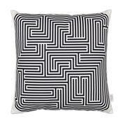 Vitra - Graphic Print Pillow Maze Kissen 40x40cm - schwarz/weiß
