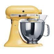 KitchenAid - Artisan 5KSM150 Küchenmaschine - patellgelb/lackiert/300W