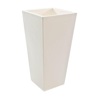 Serralunga - Kabin High Blumentopf - weiß / HxB 70x35cm/Kunststoff