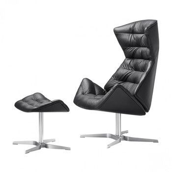 Thonet - Aktionsset Thonet 808 Lounge Sessel + Hocker -