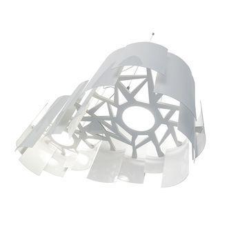 Lumen Center Italia - Skyline Pendelleuchte - weiß/glänzend/H40cm x B91cm/2950K/10000lm