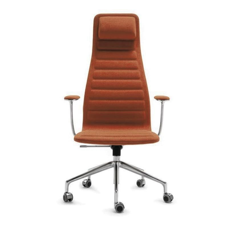 Lotus High Office Chair With Wheels Cappellini